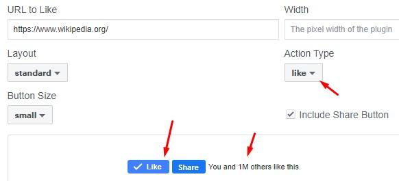 Buy Facebook website plugins likes