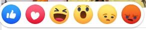 Facebook love, wow, haha, sad, angry